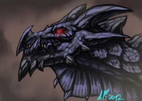 Black Storm new head design by Infernal-Feline