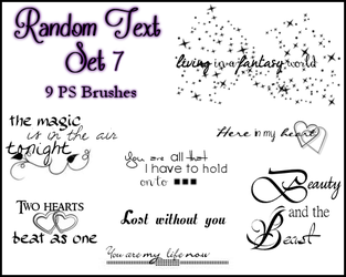 PS Random Text Set 7 by Illyera