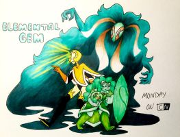 Elemental Gem by ArbyArt
