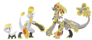 Pokemon Sun and Moon Jangmo-o Evolutions - Vectors
