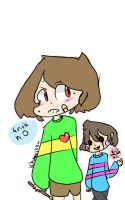 underswap chara and frisk by khane1234