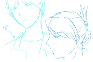 Roy and Riza Tablet doodles by xFrEAKk
