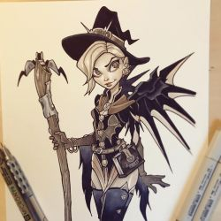 Witch Mercy Commission by ChrissieZullo