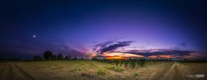 Full moon and sunset by NorbertKocsis
