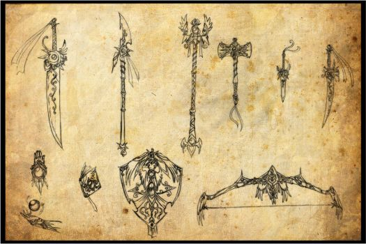 Weapon Set by miyakookami