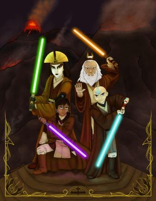 Avatar Jedi Council by musogato