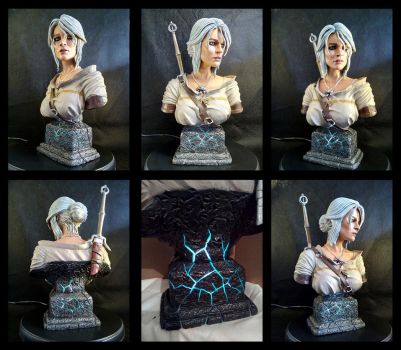 Witcher 3 Ciri Bust by Leebea