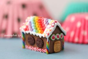 Rainbow GingerBread House 2012 by PetitPlat