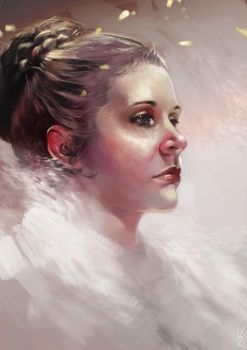 Leia Organa by kittrose