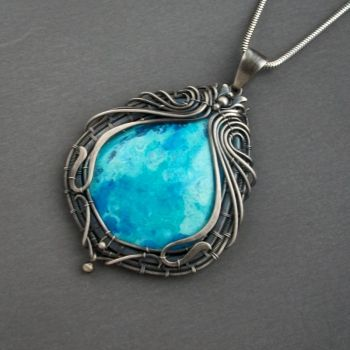 chrysocolla large by KL-WireDream