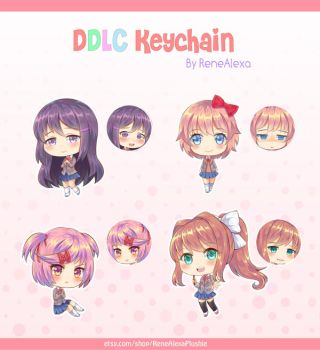 Doki Doki Literature Club - Double Sided Keychains by renealexa-plushie