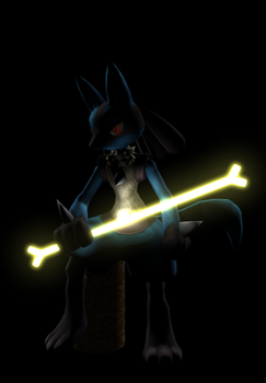 Pokemon 3D: Lucario (Poster 2) by MarkyMarktastic