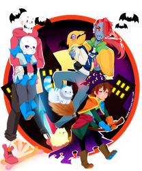Undertale : Happy halloween by keary