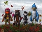 Gobo, Rocket, Jojo and Mordecai with Foof by Phraggle
