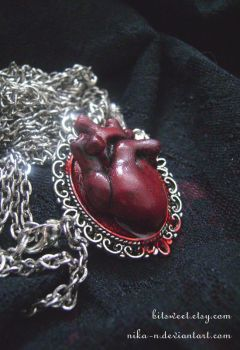 Anatomical Heart Necklace by Nika-N