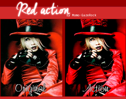Red Action by Momo-Gazerock