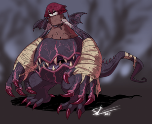 stomach mouth demon by Spoonfayse
