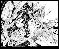 BATMAN: DETECTIVE COMICS ANNUAL #1 Try out Inks by knockmesilly