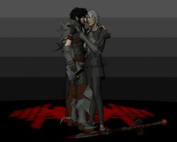Hawke and Fenris 2 by deathoflight