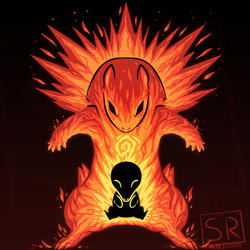 The explosion within - Cyndaquil and Typhlosion by SarahRichford
