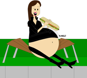 One huge sandwich for Vanessa by Angry-Signs