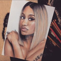 Nicki Minaj Blonde Drawing by Narniakid