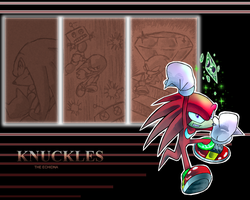 Knuckles wallapaper by Faezza