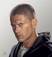 Wentworth Miller digital paint by padisio
