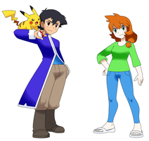 PKMN Parents: Ash and Misty by starrynight32