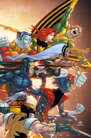 Uncanny Xmen First Class 5 cover by AlonsoEspinoza