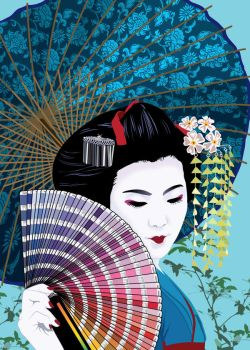 Colorful Geisha by JasonCasteel