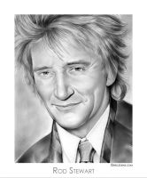 Rod Stewart by gregchapin