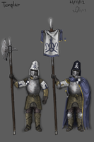 Templar Knight Concept by KidneyShake