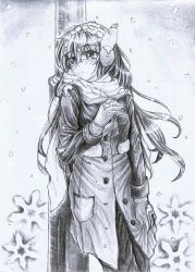 Waiting is so cold-Traditional art - By H-Kanaki by H-Kanaki