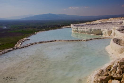 Travertine terraces of Pamukkale by Sockrattes