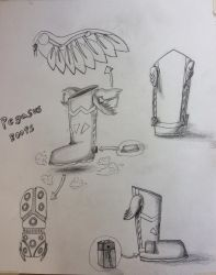 Visual Future Assignment: Pegasus Boots by PhoenixGirl1