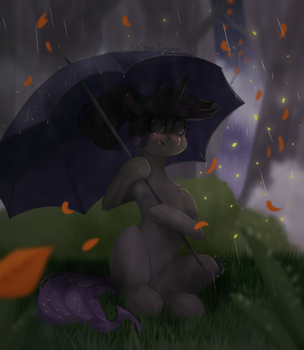 The Rain and Calm by ChibaDeer
