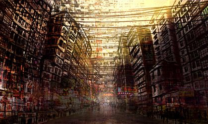 Kowloon Walled City by Androgs
