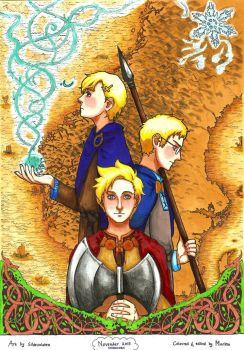 COLLABORATION: Coloring   Scandinavia by DolphinsKiss