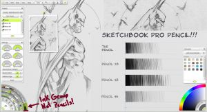 Sketchbook Pro Pencil in Artrage by rad66203