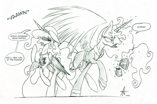 [Sketch] Canterlot Morning by Ardas91