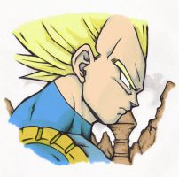 Super Saiyan Vegeta by vote1jimmy