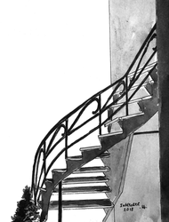 Outdoor stairs, Montreal by AnneLaureJousse
