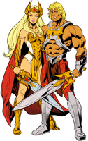 DC Comics Eternity War He-Man and She-Ra by Thor89z
