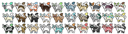 30 Cat Adoptables (CLOSED) by Raggycat