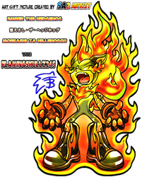 art gift Ember the Hedgehog to flamingskullz245 by Sa2artist