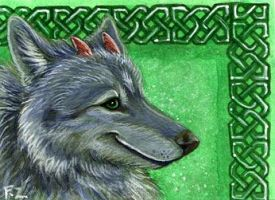 Crescent Moon ACEO by Foxfeather248