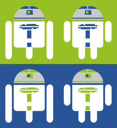 R2-D2 Android Logo by Crixler