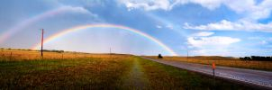 Rainbow Panoramic by C-F-photography