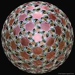 Knotted Geodesic Dome Surface by bugman123